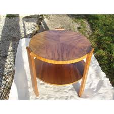 vintage round coffee table in walnut vintage designer furniture