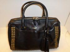 Coach Legacy Haley Satchel In Black Studded Leather  26404 EUC