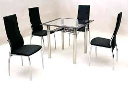 dining table black glass small 4 chair dining table set small square clear black glass dining