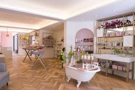 beauty room furniture. The Boutique Includes Herringbone Parquet Flooring, A Freestanding Bathtub, Chic Furniture Beauty Room W