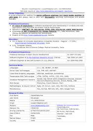 Resume Samples For Experienced Software Professionals Download Save
