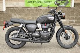 2017 triumph bonneville t100 black matte black stock t787773