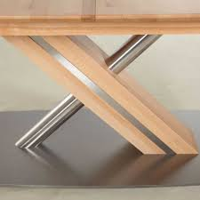 Esstisch X Fuss Massiver Esstisch Holztisch Tisch Mit Fuß
