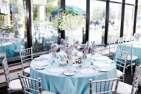 Turquoise And White Wedding Decorations White Tall Centerpiece Light Blue And Silver Wedding