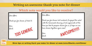 Thank You Notes To Boss Simple Write An AWESOME Thank You Note For Dinner