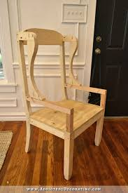 diy wingback dining chair how to build a frame for an upholstered chair 19