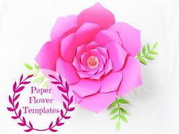 Flowers Templates Diy Wedding Paper Flowers Flower Templates Svg Cut Files