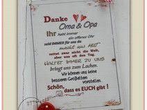 Dekoschild Danke Oma Und Opa Mit Rotem Herz Basteln Danke