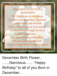 Willpower Quotes Amazing Funny Good Morning N Quotes Images December Birth Flower NARCISSUS