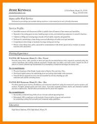 Waitress Resume Enchanting 60 Waitress Resume Description Way Cross Camp