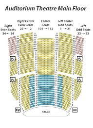 Kodak Center Seating Chart Accurate Kodak Center For Performing Arts Seating Chart