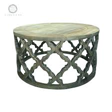 coffee table gold oval by uttermost quatrefoil edwin silver