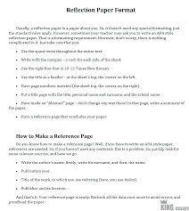 Reflective Essay Format Examples How To Write A Reflection Paper Examples And Format