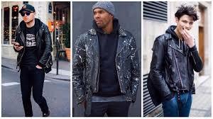 leather jacket and hoo