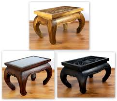 asian opium table coffee table elephant carving handmade thailand glass top