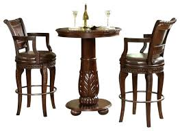 pub table 3 piece set silver 3 piece pub table set traditional round pub table and