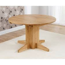 monte carlo solid oak round extending dining table