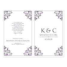Free Microsoft Word Wedding Program Template Wedding Programs Word Free Downloadable Program Templates