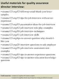 14 useful materials for quality assurance quality assurance resume example
