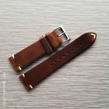 zelos brown leather two stitch watch strap jpg