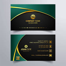 business card background luxury business card with green background vector free download