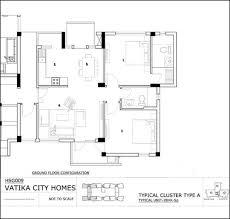 typical unit 2bhk floor plan