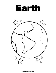 Small Picture Earth with Stars Coloring Page Felt Board ideas and templates