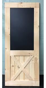 home barn doors bottom x brace barn door with built in chalkboard