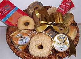 kosher gift basket bagels lox and cream cheese israel
