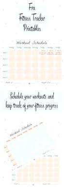 Fitness Schedule Template – Webbacklinks.info