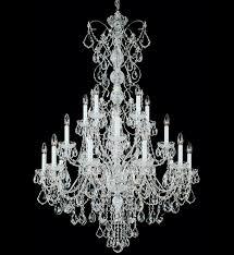 schonbek 1716 48 century 20 light antique silver crystal chandelier undefined
