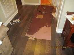 before water under hallway floor