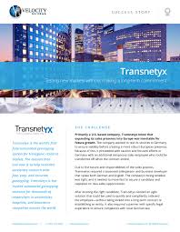 Transnetyx - Testing New Markets Without Making A Long-Term Commitment