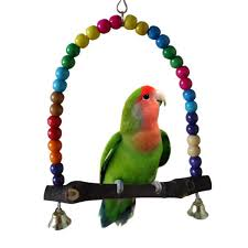 colorful wood beads and bells pet bird parrot parakeet budgie atiel cage hammock swing toys hanging toy walmart