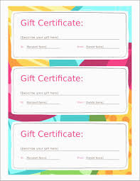 Gift Chart Template Free Printable Gift Certificates Templates Certificate