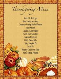 Free Thanksgiving Templates For Word Image Result For Thanksgiving Dinner Menu In 2019