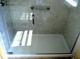 acrylic shower doors glass door awesome image enclosures installing in replacement stalls panels home depot