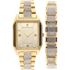 cheap elgin watches gold elgin watches gold deals on line at get quotations · elgin men s crystal accented watch and matching bracelet gold