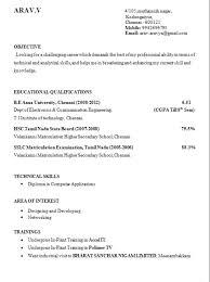 Fresher Resume Format