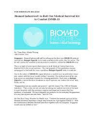 Biomed Industries Press Release | Antibiotics | Wound