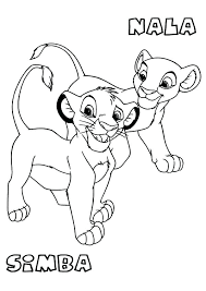 simba coloring pages pride baby free printable to print