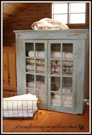 Quilt Cabinet Makeover | Blanket storage, Chicken wire and Glass doors