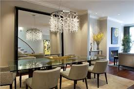 dining room crystal chandelier. Sparkling Crystal Chandelier With Glass Dining Table For Impressive Room Plan N