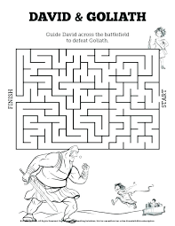 David And Goliath Coloring Page And Coloring Page And Coloring Page