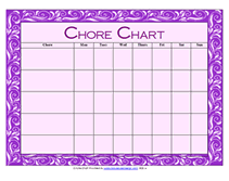 Chore Chart Template For Teens Free Printable Chore Charts For Children