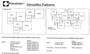 Versailles Tile Pattern Extraordinary Technical Info PetraSlate Tile Stone