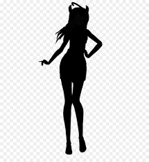 black pin up girl wall decal model model