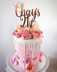 Xoxo Design Chays 21st Custom Name Age Swirl Birthday Cake Topper