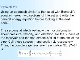 bernoulli 39 s equation pump. example 7.1 using an approach similar to that used with bernoulli\u0027s equation, select two sections bernoulli 39 s equation pump