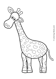 Animals Coloring Pages For Kids Giraffe